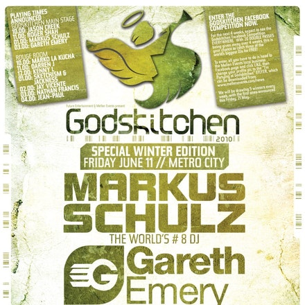 Godskitchen Special Winter Edition, Metro City, 11 June 2010 - Godskitchen, the leading name behind trance and leading international talent, lands into...