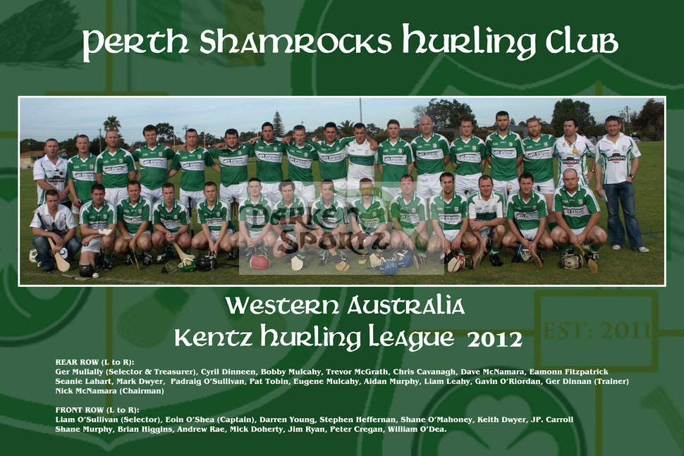 PERTH SHAMROCKS 2012