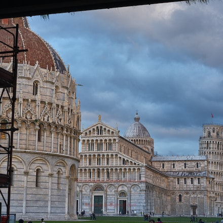 The Cathedral and Leaning Tower near sunset in December. - Pisa