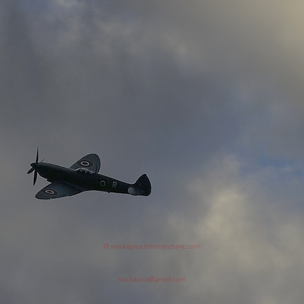 Spitfire PR. Mk. IX - Spitfire PR. Mk. IX displays at the Ulster Flying Club airfield, Newtownards, Co. Down, N. Ireland in Sept 2015, to commemorate the...