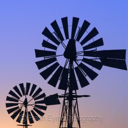 07BD07 edit auto col_012_Kerri Cliff - Windmills on Barna Dam - cool colour