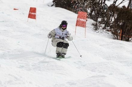 140819_Moguls_6379 - Athlete competing during day 1 of the Canon Australian Freestyle Mogul Championships at Perisher, NSW (Australia) on August 19 2014....