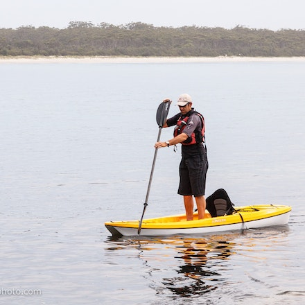 141115_jbk_8804 - Customers testing kayaks and SUP's during the Jervis Bay Kayaks demo day at Huskisson, NSW (Australia) on November 15 2014. Photo: Jan...