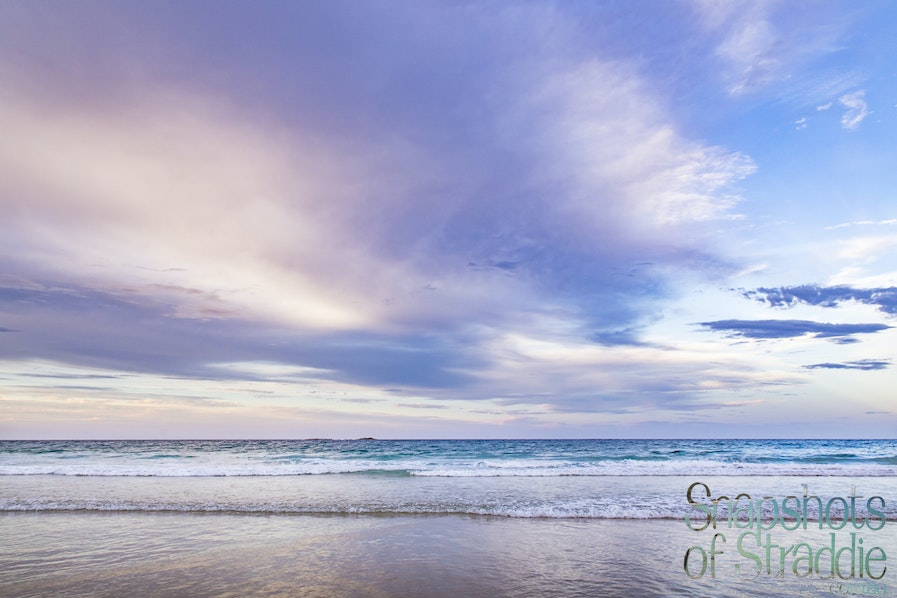 A-0112-0167- Home Beach Afternoon - Clouds & Solitude - Snapshots of Straddie. Photographs from North Stradbroke Island, Queensland Australia. www.snapshotsofstraddie.com.au....