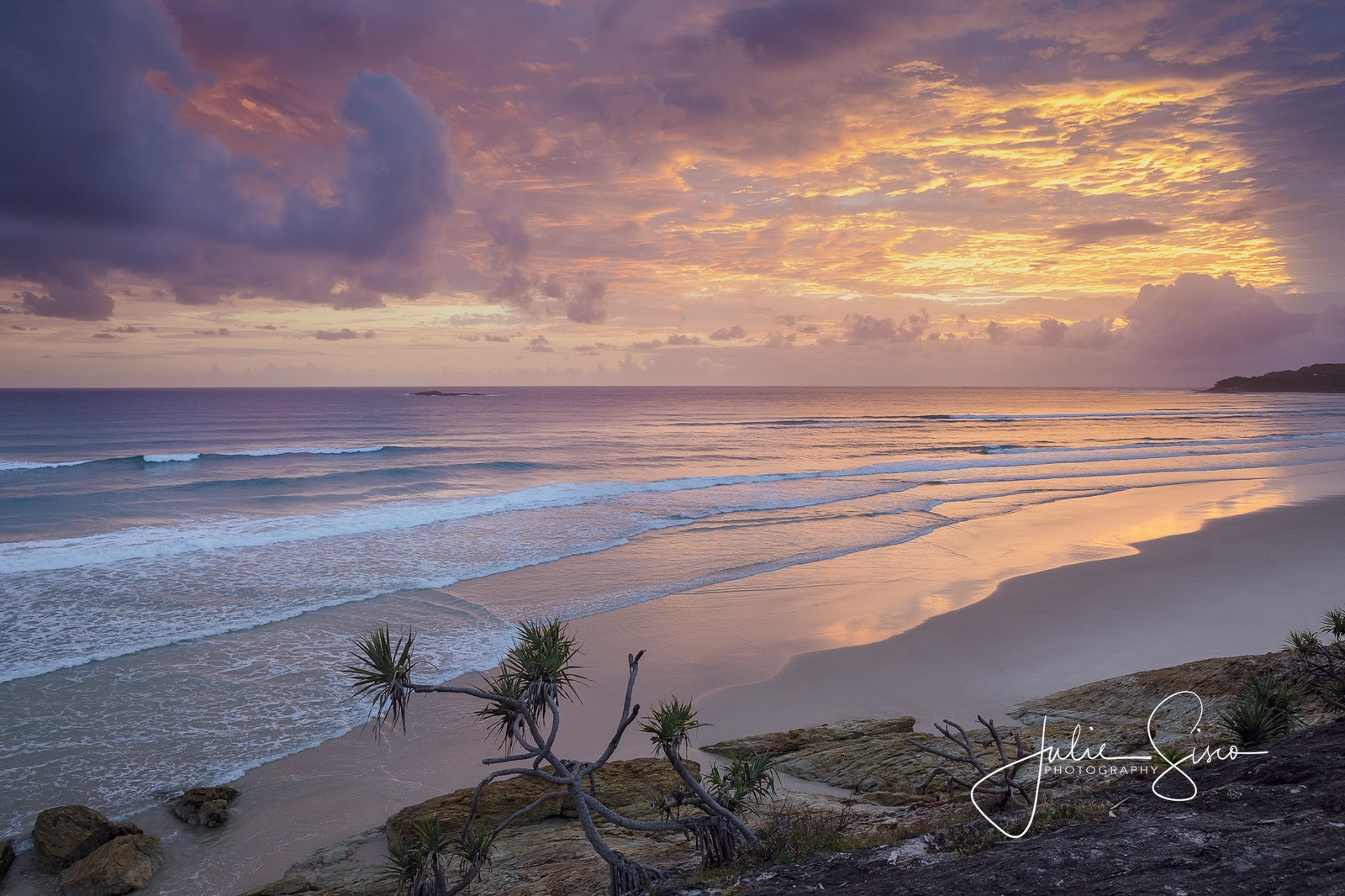 Sunrise from high on Home - Snapshots of Straddie. Wall Art Landscape and Seascape Photography by Julie Sisco. Photos from North Stradbroke Island, Queensland,...