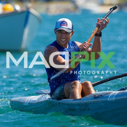 Australia Oc1 Championships - Images of Daniel Bova who won the Australian Championships - 20km Race from Kurnell out to sea and finish at Gunnamatta Bay...