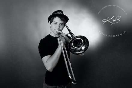 Blow-your-horn - Studio portrait session in our Waterford Studio.