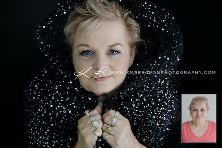 Before and After - Beautiful tranformation and portraits by Logan City Photographer Kerry Bergman