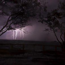 lightning Elliot heads 21/2/12 - lightning. Elliot heads. 21/2/12. With a 4 strike bolt, One hitting the Island. A Capture that is so individual in its...