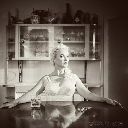reflections - black & white - 50's image