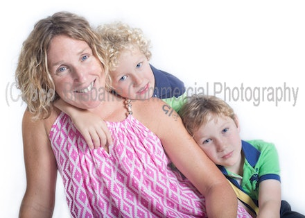 Dana with her sons Elijah and Isaac - Kids are great to photograph if you let them be themselves.
