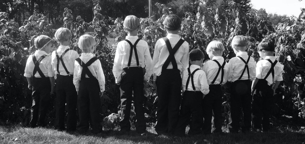 AMISH WEDDING BOYS_BW