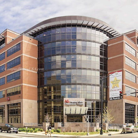 University of Louisville Health Care Outpatient Center, University of Louisville/Color Photo_2436_6348_ - Photo by Campus Photos USA. The University of...