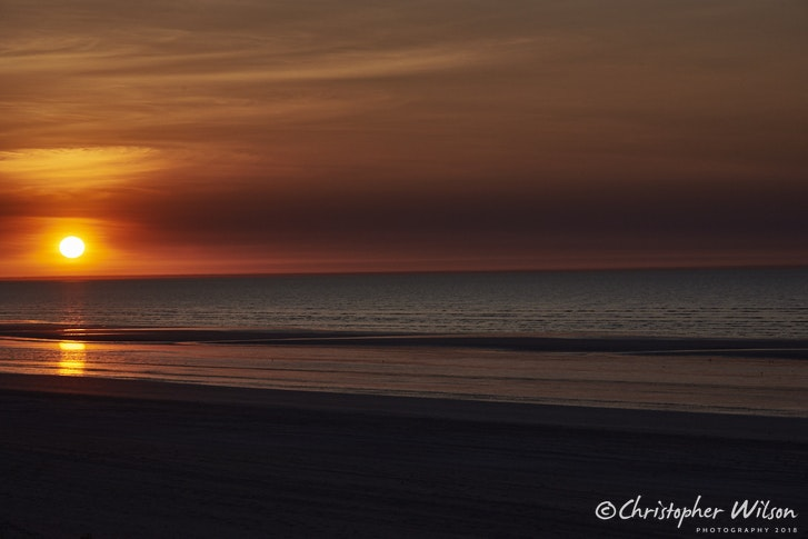 80 mile beach sunset - No reproduction without written permision