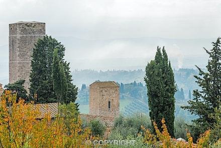 097 San Gimignano 141115-3784-Edit - Early morning looking over the  city of San Gimignano, Tuscany, Italy.