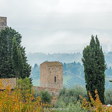 097 San Gimignano 141115-3784-Edit - Early morning looking over the  city of San Gimignano, Tuscany, Italy.