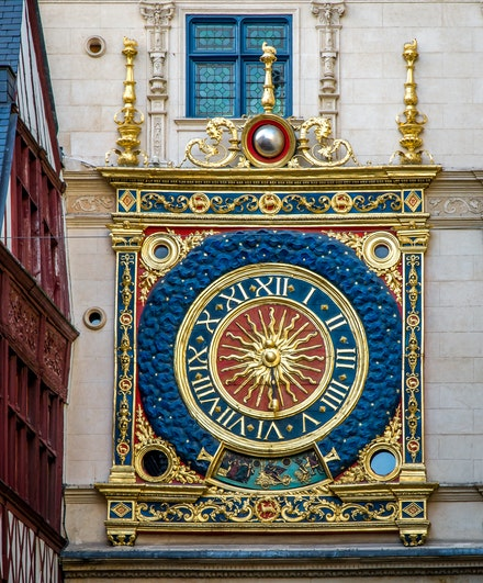 France 2013 Rouen 044 - This beautiful clock is in Rouen, France.