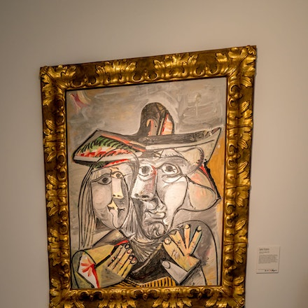 A Picasso no ropes or security inside the Mussee -1095
