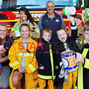 Werribee Fire Brigade - Good Friday appeal - Volunteers prepare to rattle the tins for this years Good Friday appeal.