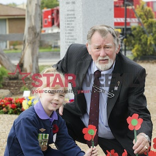 Diggers Rest Primary School Anzac Day Commemorations - Pictures by Shawn Smits