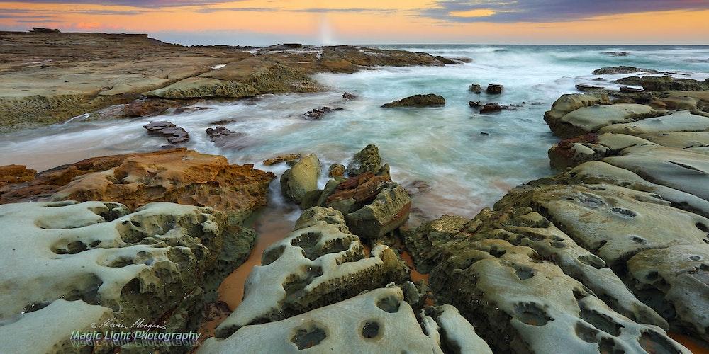Spoon Bay Sunset 09 Feb 2016 IMG_2502 1500 panorama