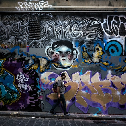 Hosier Lane Street Art - Street Art in Hosier Lane, Melbourne