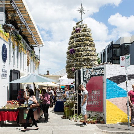 Fitzroy - Rose Street Market - City of Yarra Project - A street scene outside the popular Rose Street design market, Fitzroy