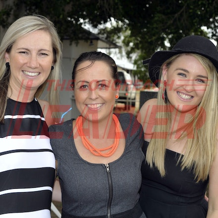 160312_SR29899 - Ange Arthur, Nicole de Vries, Izzy Lynagh at the Longreach Races, Saturday March 12, 2016.  sr/Photo by Sam Rutherford