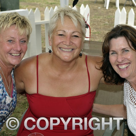 160312_SR29915 - Tracy Parrish, Ange Brown, Paula Wren at the Longreach Races, Saturday March 12, 2016.  sr/Photo by Sam Rutherford