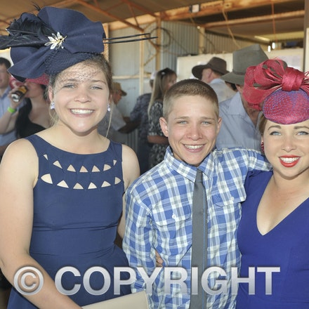 151003_SR22229 - Evie, Reg and Stella Batt at the Jundah Cup day races, Saturday October 3, 2015.  sr/Photo by Sam Rutherford