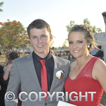 151120_SR27436 - Beau Matthews, Abbey cossor at the Longreach State High School formal, Friday November 20, 2015.  sr/Photo by Sam Rutherford