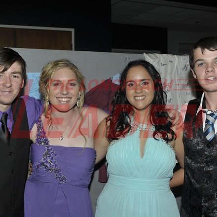 151120_SR27477 - Troy Ramsay, Georgia peacock, Cheyenne Weldon, Ricky McKean at the Longreach State High School formal, Friday November 20, 2015.  sr/Photo...