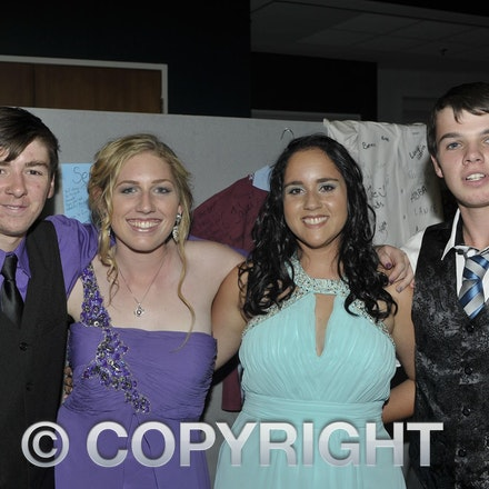 151120_SR27477 - Troy Ramsay, Georgia peacock, Cheyenne Weldon, Ricky McKean at the Longreach State High School formal, Friday November 20, 2015.  sr/Photo...