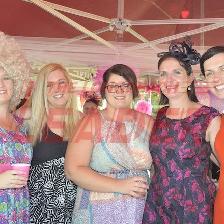 160430_SR25422 - Leisa Pearce, Amanda Mahom, Kylie Patterson, Anna Barrett and Maree Scutt at the Tree of Knowledge Cup Race day in Barcaldine, Saturday...