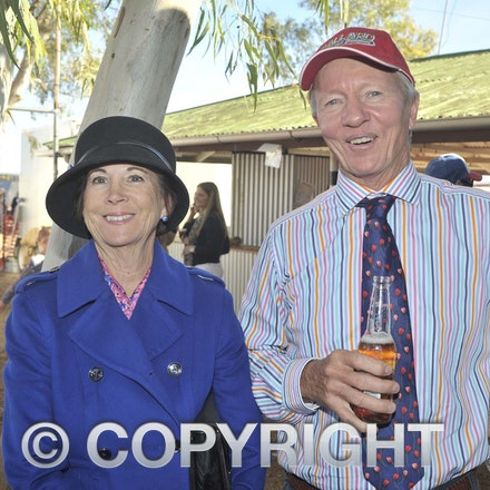 160709_SR22505 - Lenore Johnstone and Sandy Williams at the Ilfracombe Races, Saturday July 9, 2016.  sr/Photo by Sam Rutherford