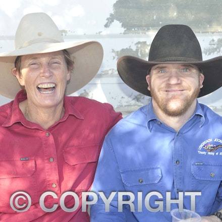160709_SR22534 - Margie Elliott and Adam Ballard at the Ilfracombe Races, Saturday July 9, 2016.  sr/Photo by Sam Rutherford