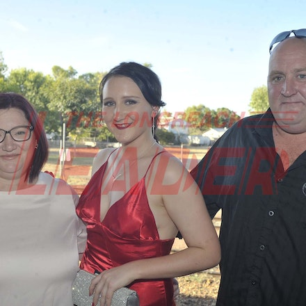 161118_SR24932 - Belinda, Graceanne and Jason Waterford at the Longreach State High School's Year 12 Formal photo call at the Railway Station, Friday November...
