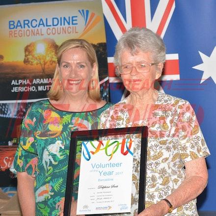 170126_DSC_7902 - Volunteer of the Year: Delphine Scott.