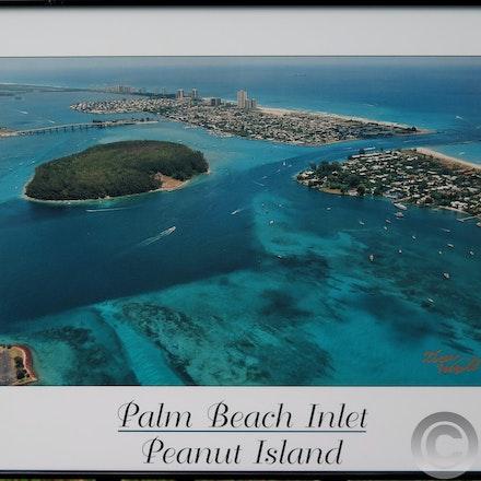 FRAMED PEANUT ISLAND POSTER - Framed Peanut Island Poster in simple black metal frame. $25.00