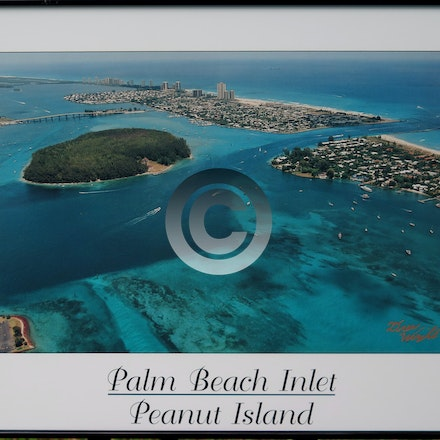FRAMED PEANUT ISLAND POSTER - Framed Peanut Island Poster in simple black metal frame. $25.00