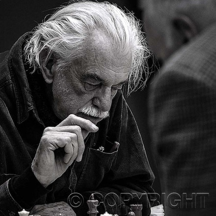 The Final Move - Two Gentlemen battle it out in a Chess competition at Katoomba.