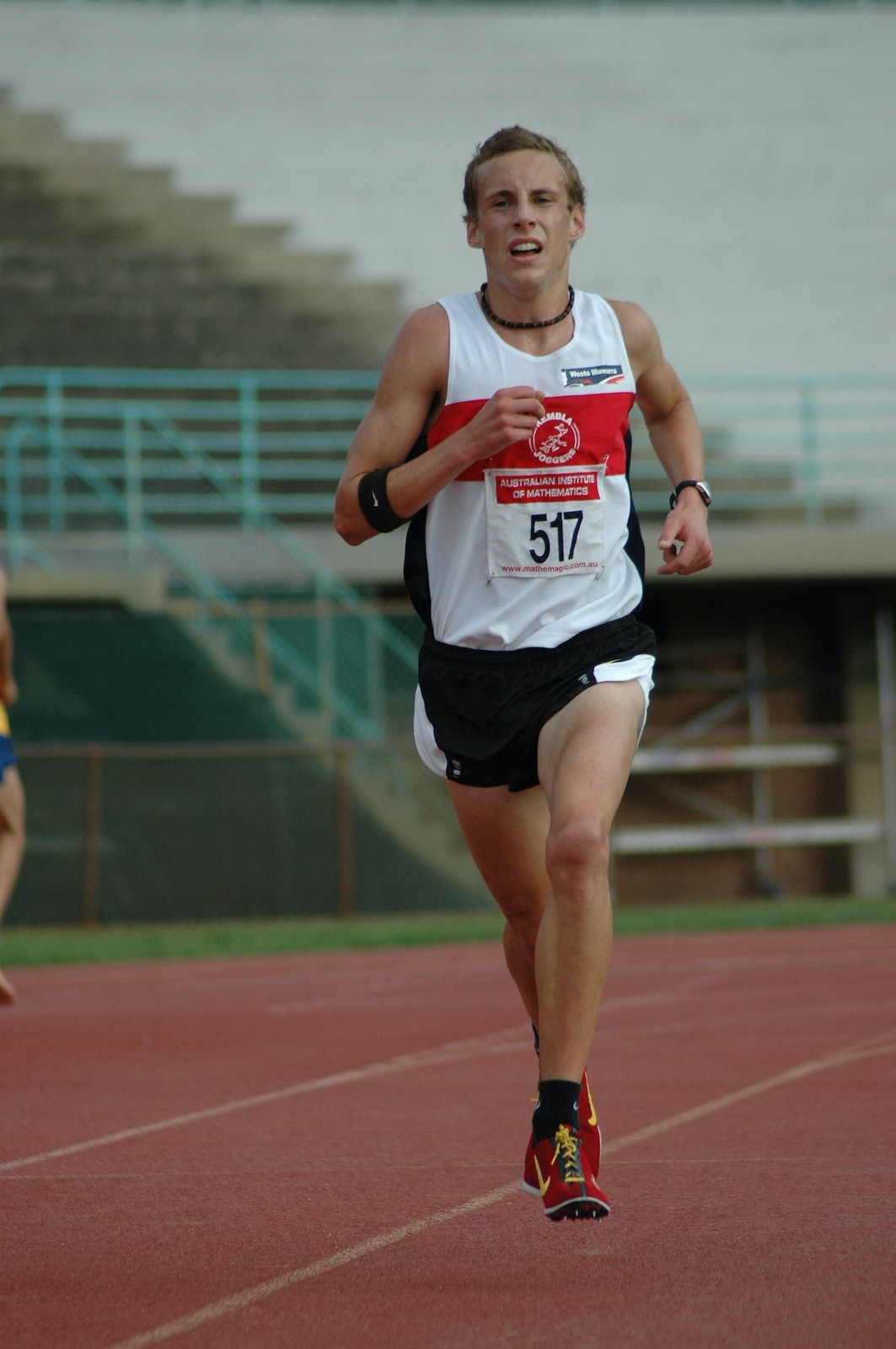 Ryan Gregson - Ryan Gregson on his way to setting the NSW U18 5000m Championships at ES Marks in November 2007.